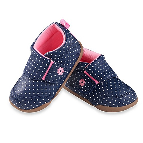 s 174 stage 2 shoes in navy blue dots buybuy baby