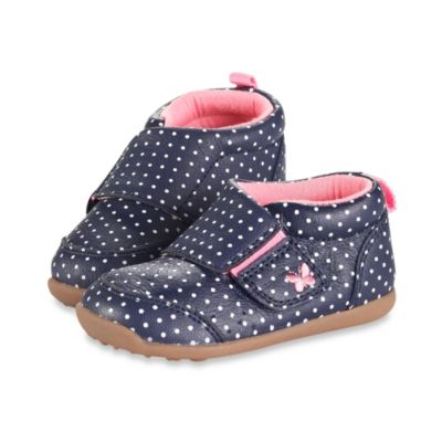 Carter's® Stage 3 Shoes in Navy Blue Dots