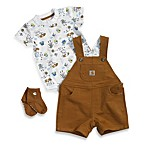 Carhartt® Shortall 3-Piece Set in Brown