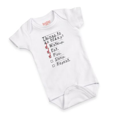 Sara Kety Size 6-12M Eat Sleep Poo Bodysuit