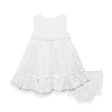 Pippa & Julie™ Dotted Swiss Dress in White