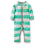 Carter's® Octopus 1-Piece Coverall in Aqua Stripe