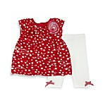 Pippa & Julie® 2-Piece Tunic and Legging Set in Red/White Polka Dot