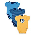 Lamaze® Lion 3-Pack Cotton Bodysuits in Assorted Colors/Prints