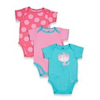 Lamaze® 3-Pack Cat/Dots Short-Sleeve Bodysuits