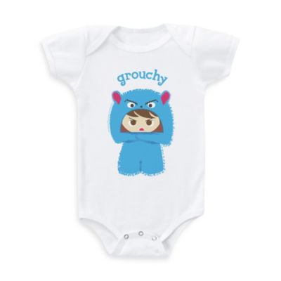 Flavorkids by Paperflavor Grouchy Monster Size 0-3 Months Bodysuit