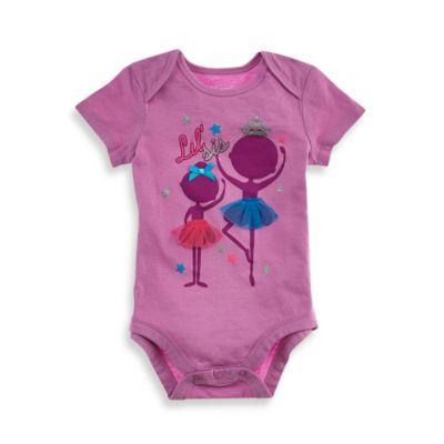 Kidtopia Size 9M Little Sister Bodysuit in Purple