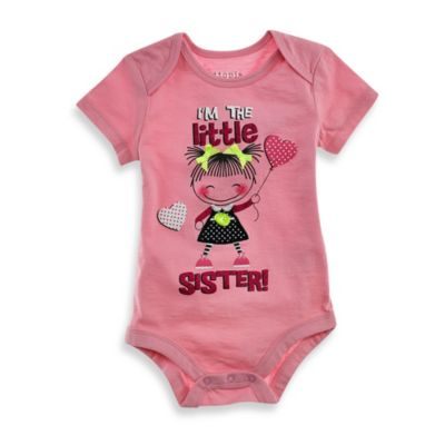 Kidtopia™ Little Sister Bodysuit in Pink