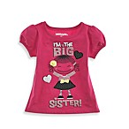 Kidtopia I'm The Big Sister Tee in Pink