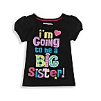 Kidtopia I'm Going To Be A Big Sister! Tee in Black
