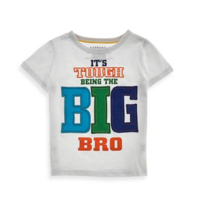 Kidtopia Size 18M It's Tough Being The Big Bro Tee in White