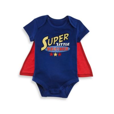 Kidtopia Size 12M Super Little Brother Bodysuit with Cape in Blue