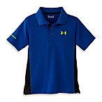 Under Armour® Short-Sleeve Polo Shirt in Royal/Black