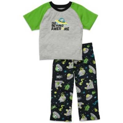 Carter's® Green Alien 2-Piece Jersey PJs