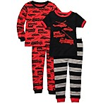 Carter's® Size Emergency Squad 4-Piece Long Sleeve Pajama Set in Red