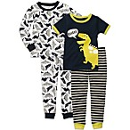 Carter's® Navy Dino 4-Piece Long/Short Sleeve PJs