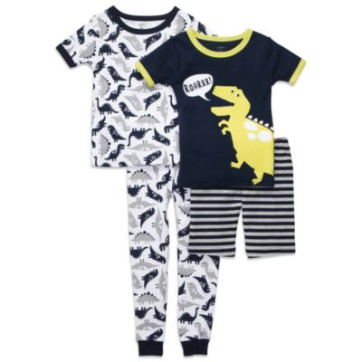 Carter's® Navy Dino 4-Piece Short Sleeve PJs