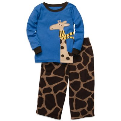Carter's® Blue Giraffe 2-Piece Microfleece & Cotton PJs
