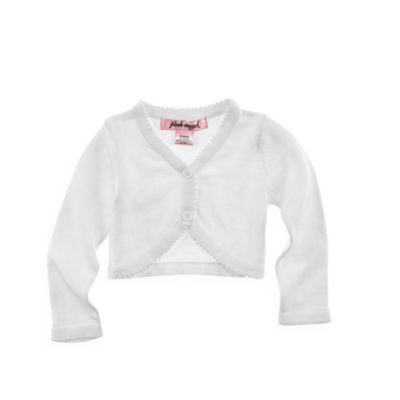Cudlie™ Pink Angel Cardigan in White