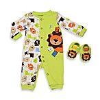 Taggies™ Coverall with Lion Applique and Matching Novelty Lion Booties