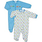 Gerber® 2-Pack Animal Friends Sleep 'n Play Footies in Blue/White