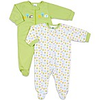 Gerber® 2-Pack Sleep 'n Play Footies in Neutral
