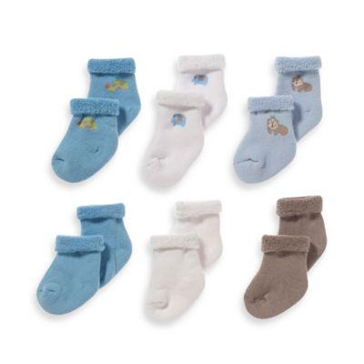 Gerber® Boys Size 0 - 3M 6-Pack Terry Socks in Blue