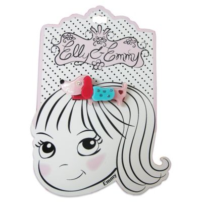 Elly & Emmy® Blue and Pink Puppy Barrette