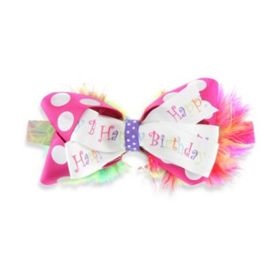 Ruffly Rumps by RuffleButts™ Birthday Ribbon Headband