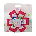So 'Dorable® White and Pink Dot Cupcake Ribbon Clippie