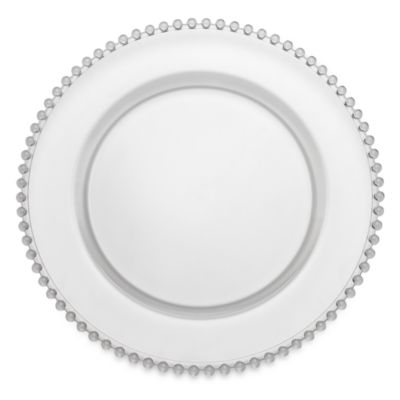 Clear Glass Charger Plates