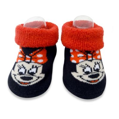Rising Star 2-Pack Minnie Mouse Bootie Set in Red