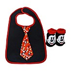 Mickey Mouse Bib and Bootie Set