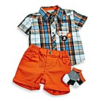 Petit Lem™ Little Waver Plaid Shirt and Solid Shorts Set