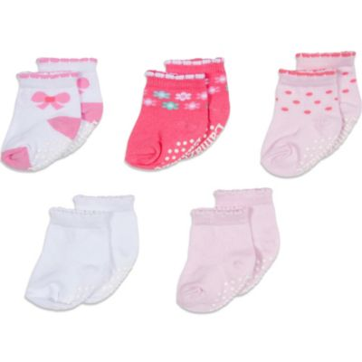 Lamaze® Size 0-6 Months 5-Pack Bow Terry Socks in Assorted Colors