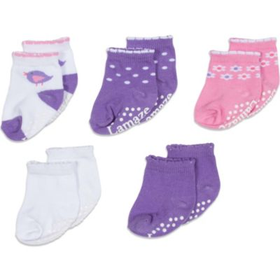 Lamaze® Size 0-6 Months Terry Socks in Assorted Colors (5-Pack)