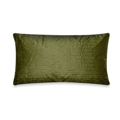 Julia Pleat Oblong Toss Pillow in Lime Green