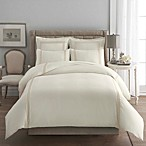 Signature Link Duvet Cover Set in Ivory/Ivory