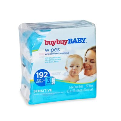buybuyBABY® 192-Count Sensitive Wipes with Soothing Chamomile