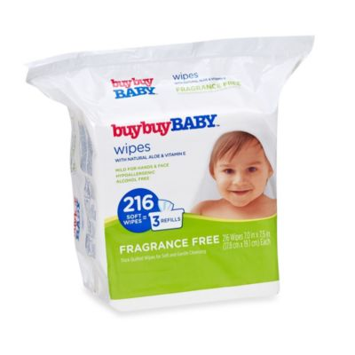 buybuyBABY® 216-Count Fragrance Free Wipes with Natural Aloe & Vitamin E