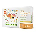 BabyGanics® 40-Count Size 1 Ultra Absorbent Jumbo Diapers