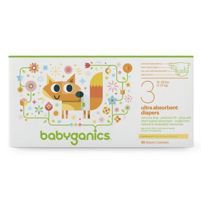 Babyganics® 92-Count Size 3 Ultra Absorbent Diapers