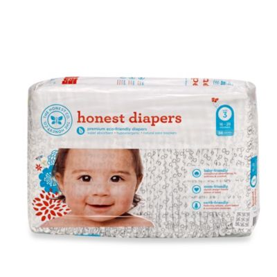 Honest Size Three 34-Pack Diapers with Skull Pattern