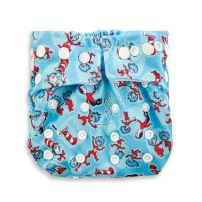 Bumkins® Snap-In-One Cloth Diaper in Cat in the Hat