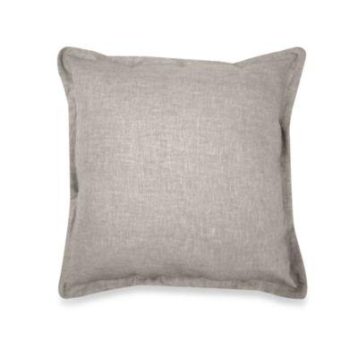 Veratex Gotham 100% Linen Square Toss Pillow in Stone