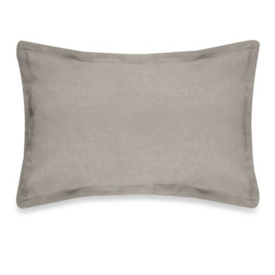 Veratex Gotham Boudoir 100% Linen Throw Pillow in Stone