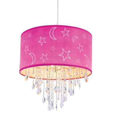 Bel Air Moon and Stars Pendant in Pink