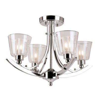 Bel Air 5-Light Semi Flush-Mounted Ceiling Lamp