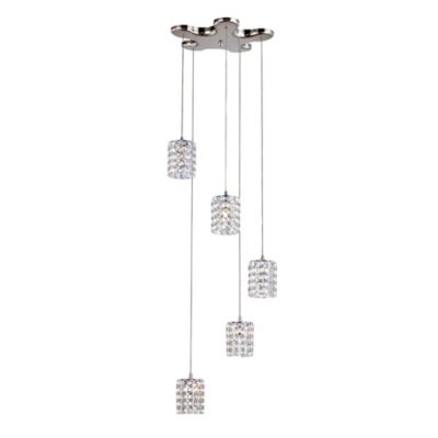 Bel Air 5-Light Flex Crystal Drop Pendant