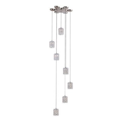 Bel Air 7-Light Flex Crystal Drop Pendant